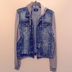 Carbon Jean Jacket With Hood